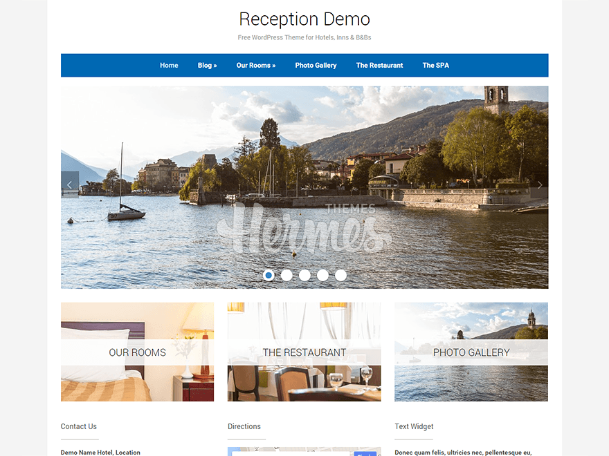 Reception free wordpress theme