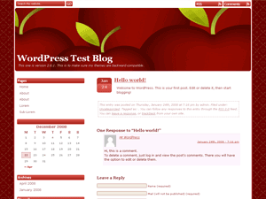 Red Delicious wordpress theme