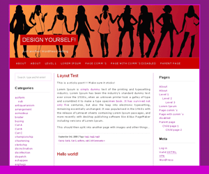 Red Light wordpress theme