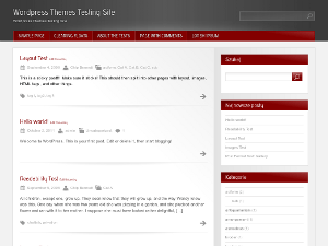Red Modern free wordpress theme