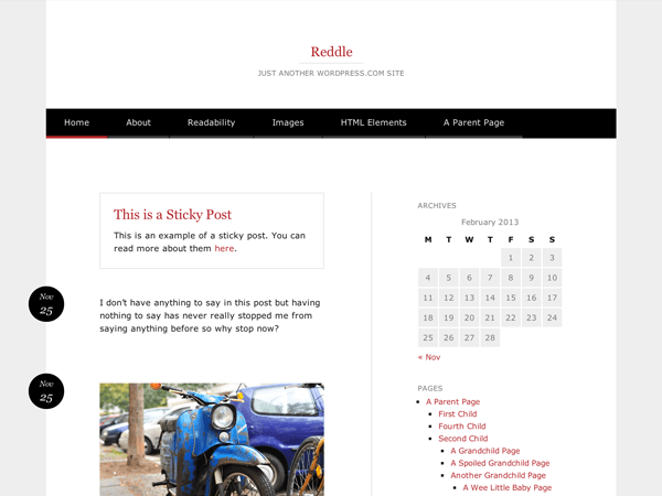 Reddle free wordpress theme