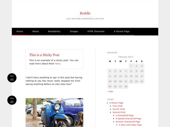 Reddle wordpress theme