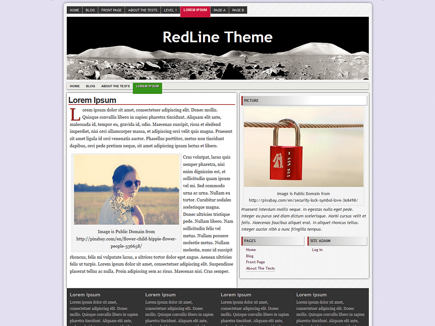 RedLine free wordpress theme