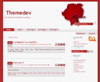 Redtopia wordpress theme