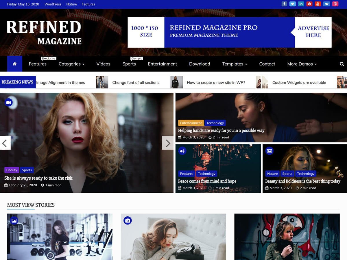 Refined Magazine - WordPress theme | WordPress.org Occitan