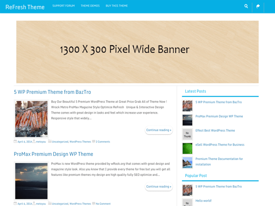 ReFresh free wordpress theme