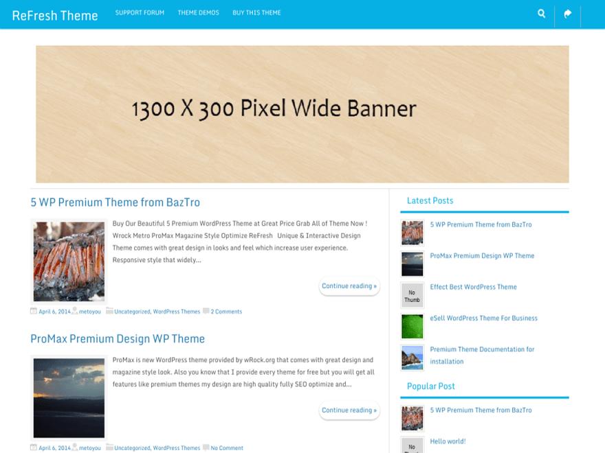 ReFresh free wordpress theme
