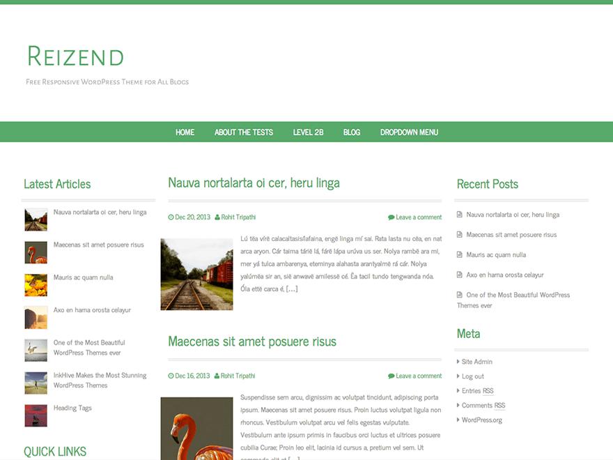 Reizend free wordpress theme