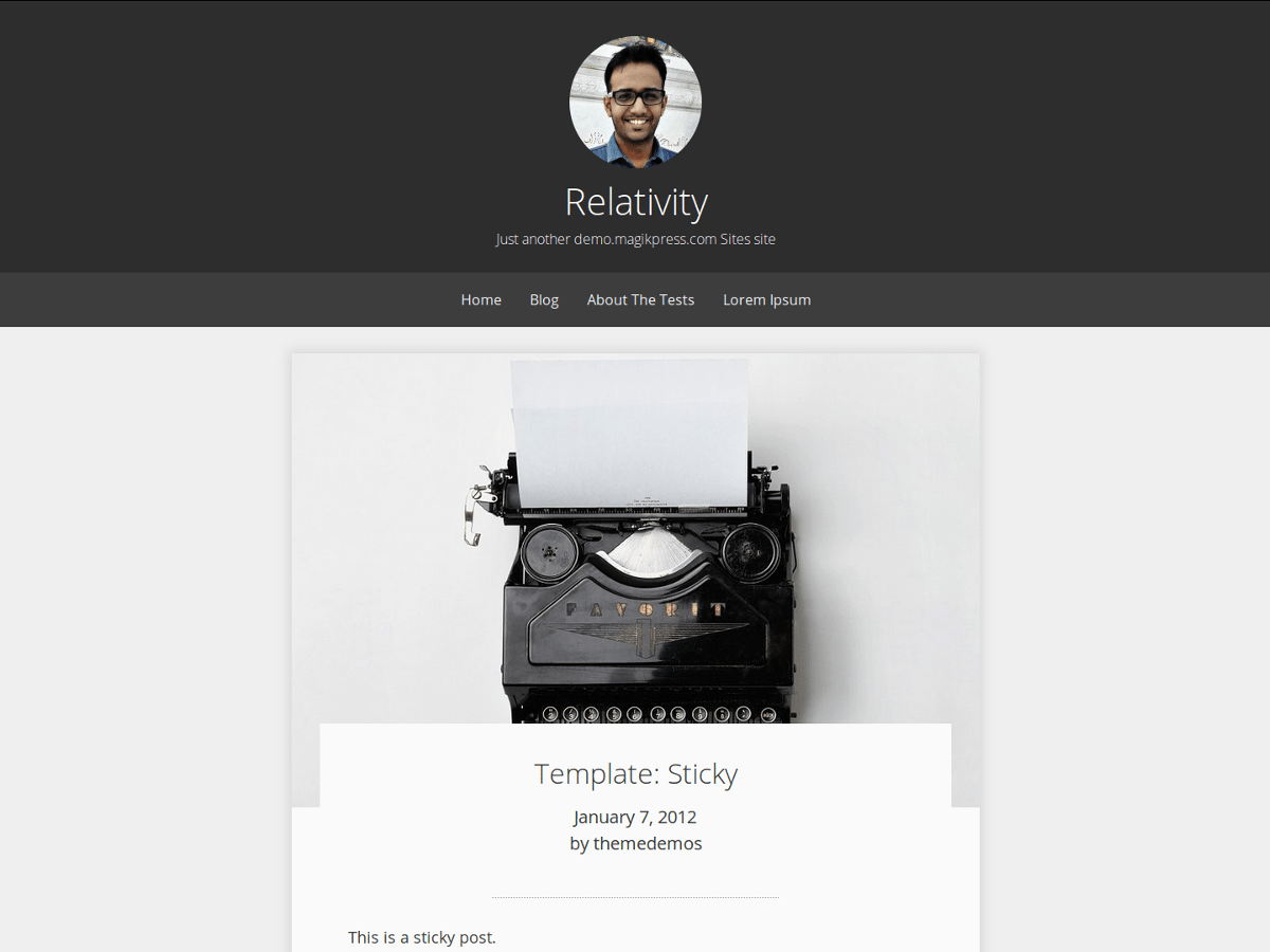 Relativity free wordpress theme