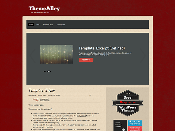 Relik free wordpress theme