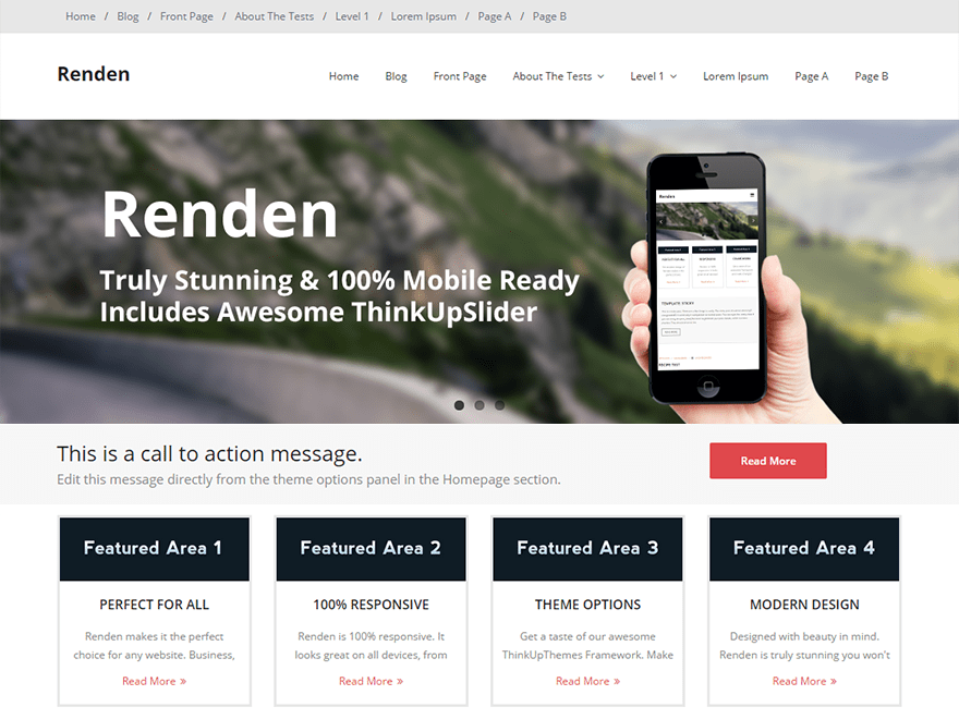 Renden free wordpress theme