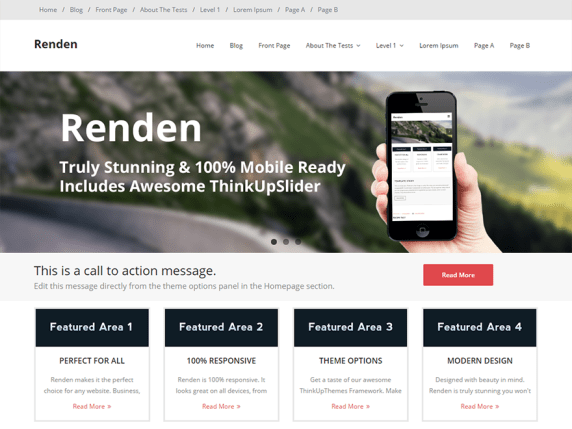 Renden wordpress theme