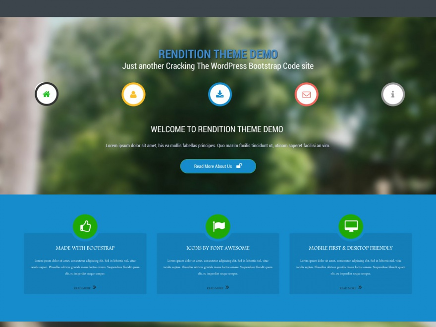 Rendition free wordpress theme