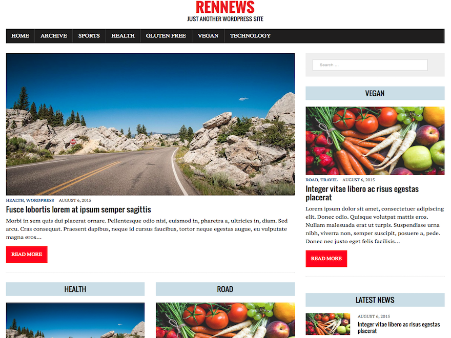 RenNews Child free wordpress theme