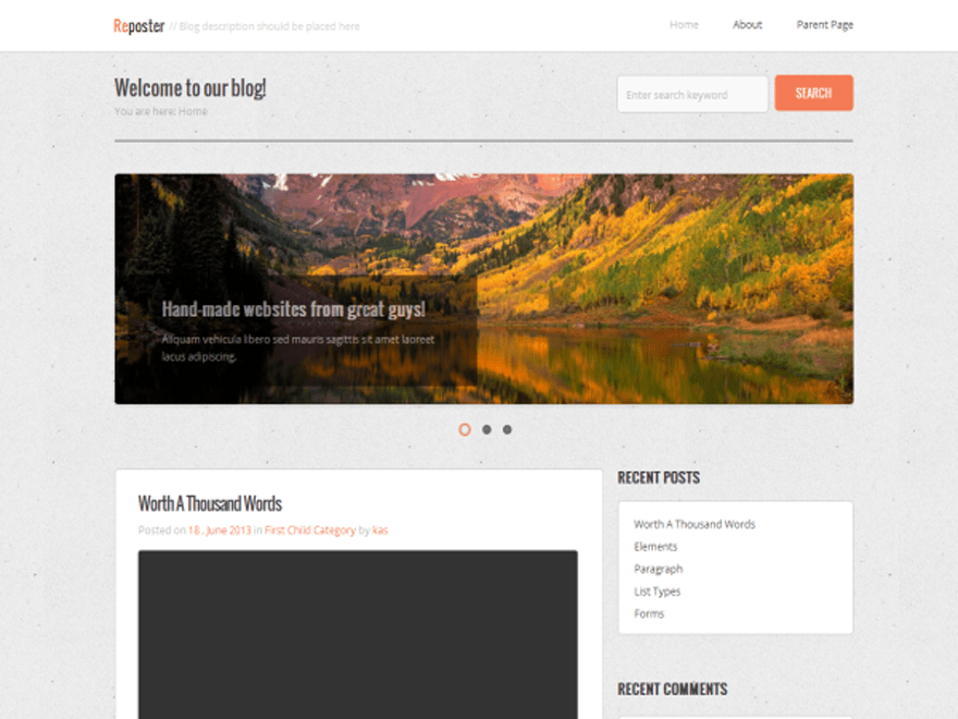 Reposter free wordpress theme