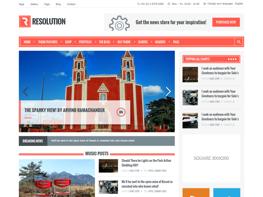 Resolution free wordpress theme