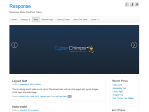 Response free wordpress theme