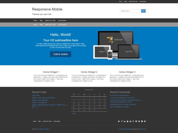 Responsive Mobile wordpress theme