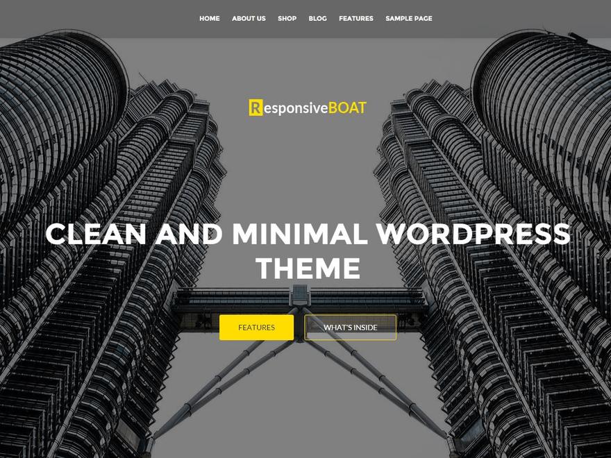ResponsiveBoat: Amazing Business & StartUps WordPress Theme