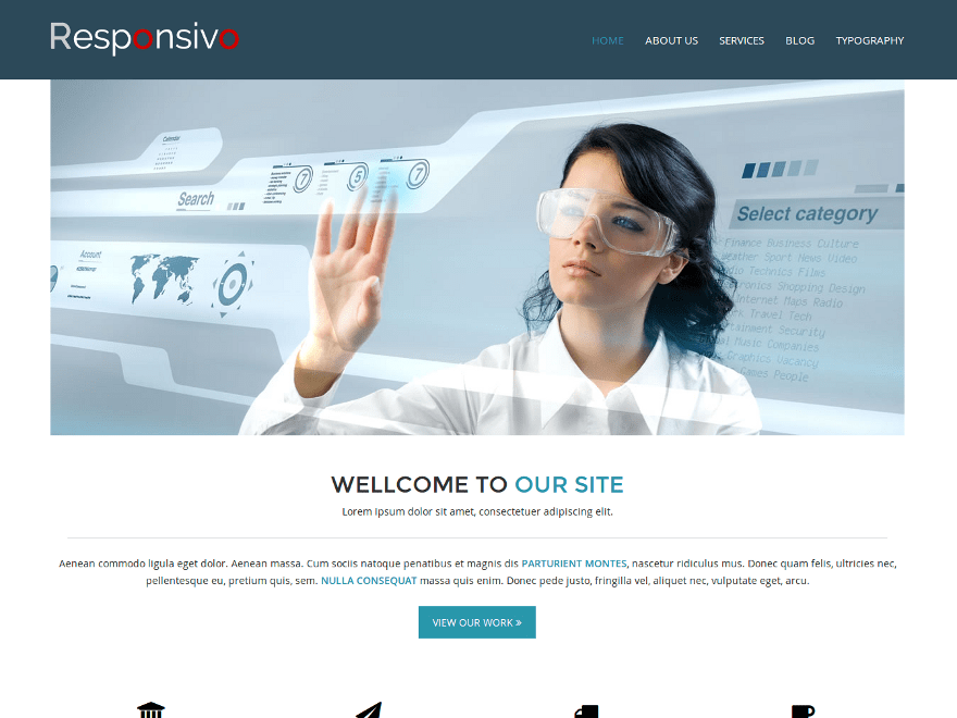 Responsivo free wordpress theme