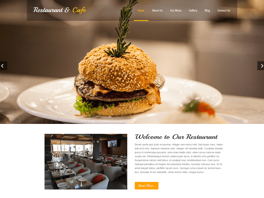 screenshot of Restaurant Lite free WooCommerce theme