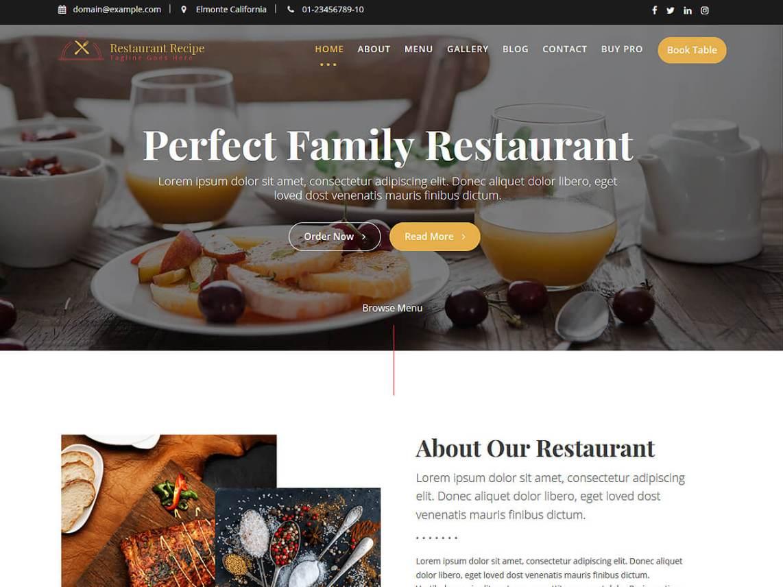 Restaurant Recipe - WordPress theme | WordPress org