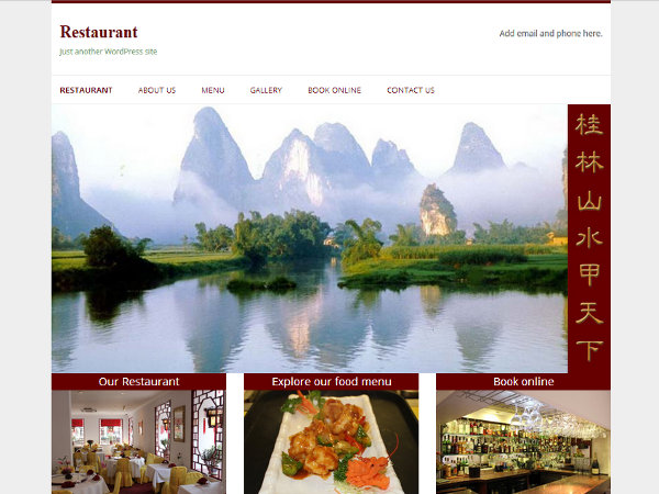 Restaurant free wordpress theme