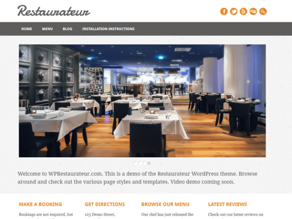 Restaurateur wordpress theme