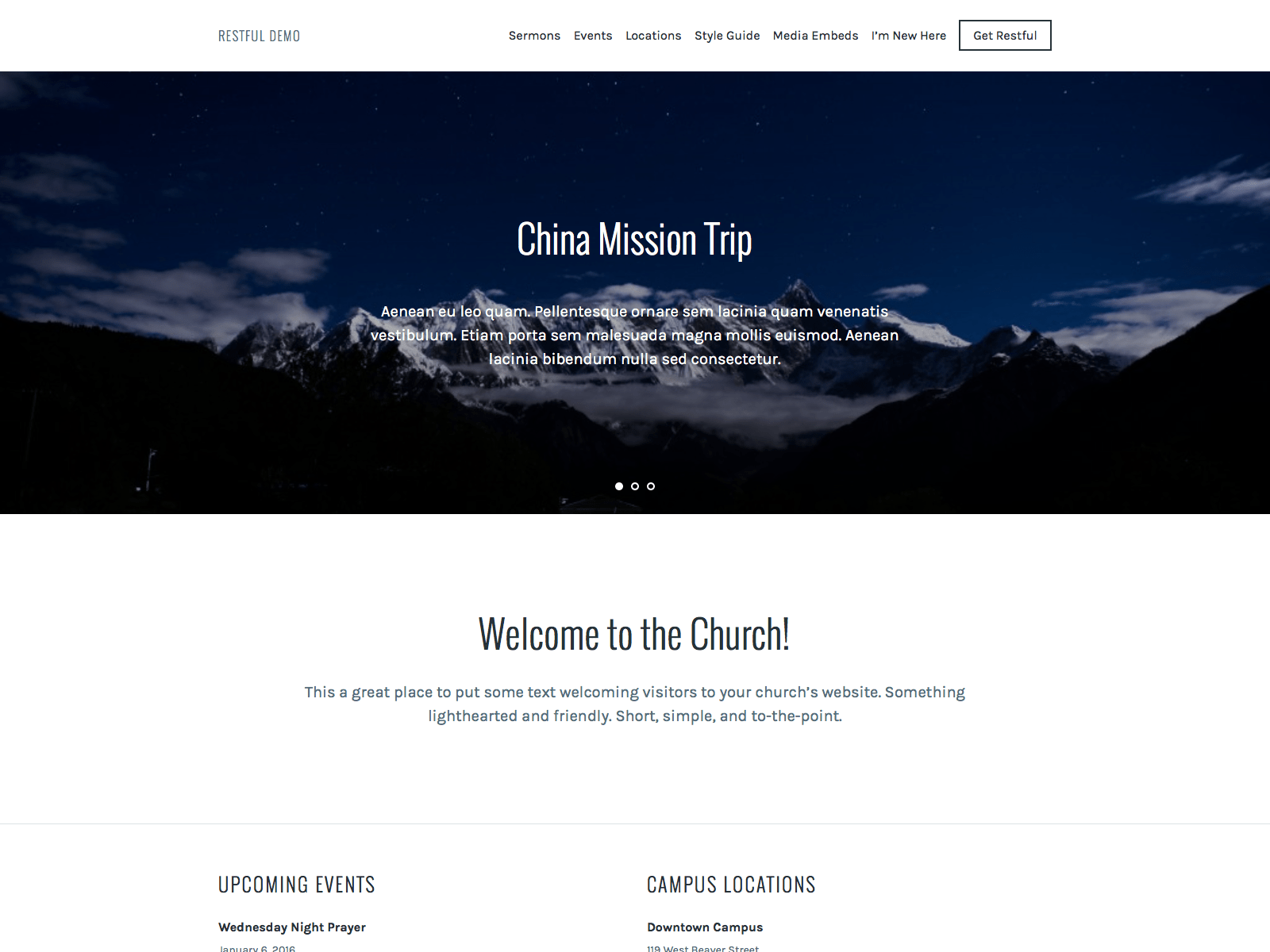 Restful free wordpress theme