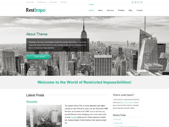 RestImpo wordpress theme