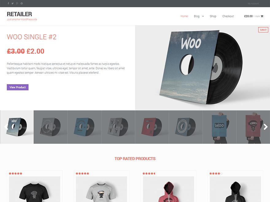 RETAILER free wordpress theme