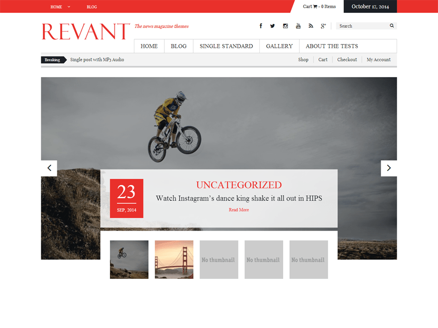 Revant free wordpress theme
