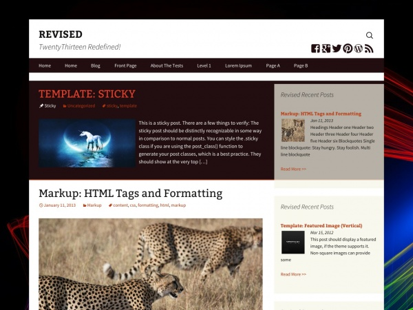 Revised free wordpress theme