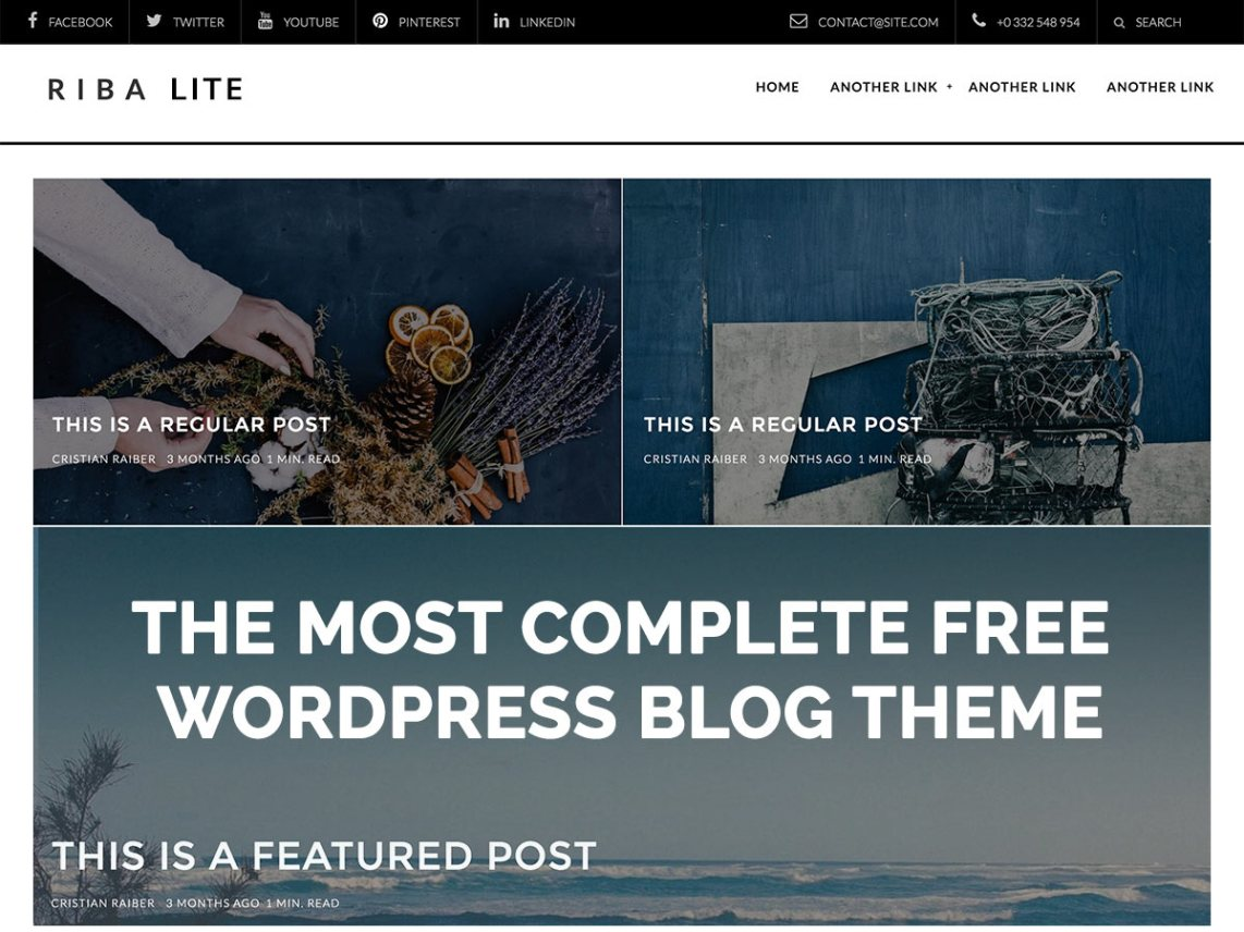 Riba Lite theme wordpress gratuit
