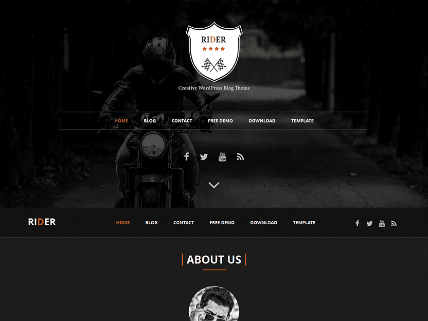 Rider free wordpress theme