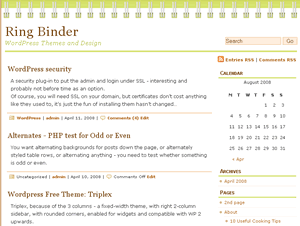 ringbinder free wordpress theme