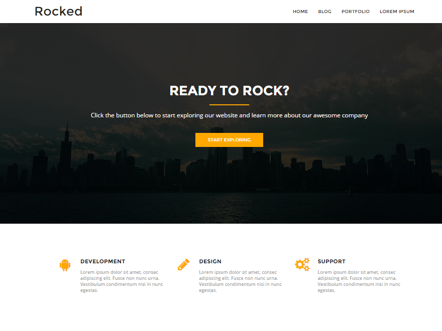 Rocked free wordpress theme