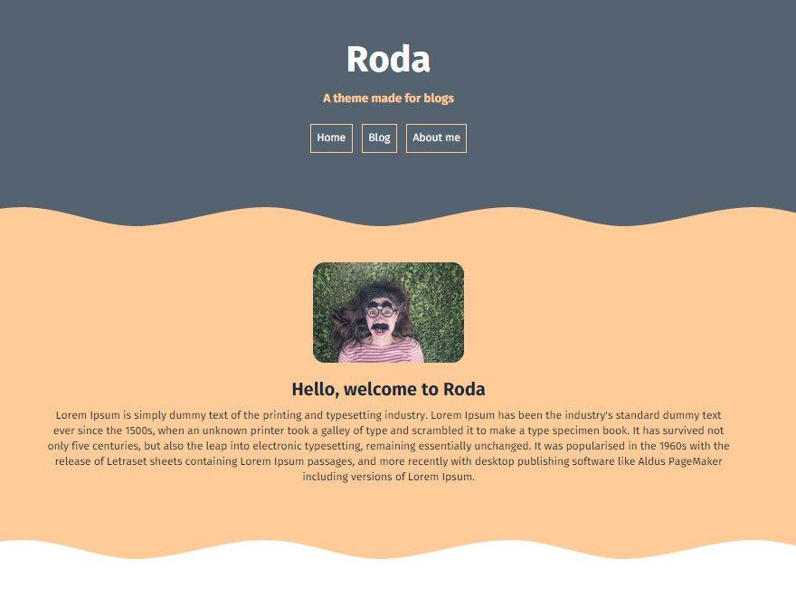 Roda free wordpress theme