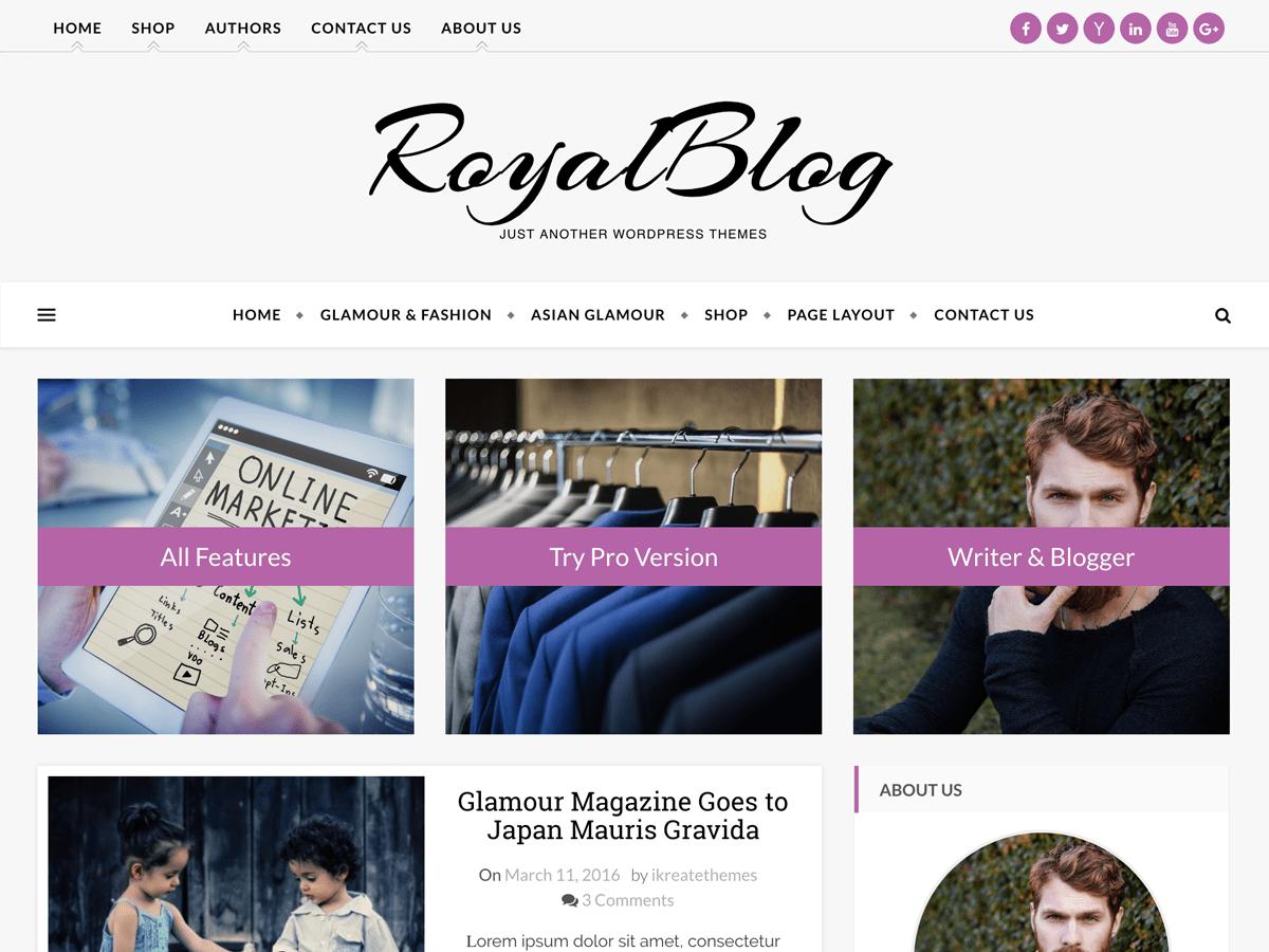 WordPress主题:Royal Blog