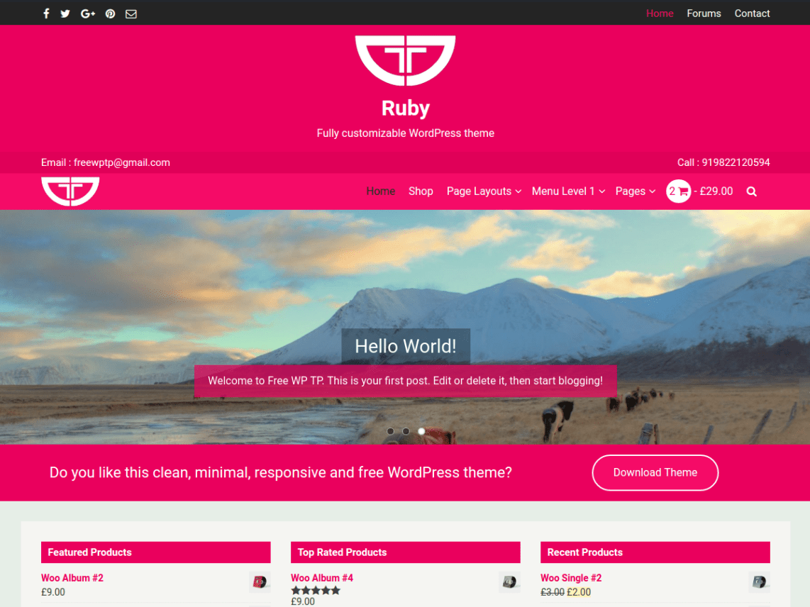 Gmail theme photo size - Ruby Is A Clean Minimal Responsive And Fully Customizable Wordpress Theme That Looks Awesome On Any Device It Adjusts Automatically To Any Screen Size