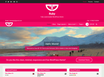 Ruby child theme