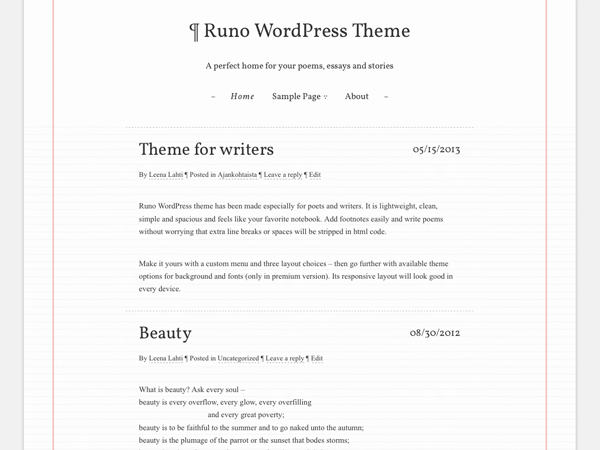 Runo Lite free wordpress theme