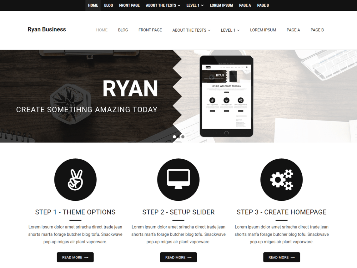 Ryan Business Theme Free Download