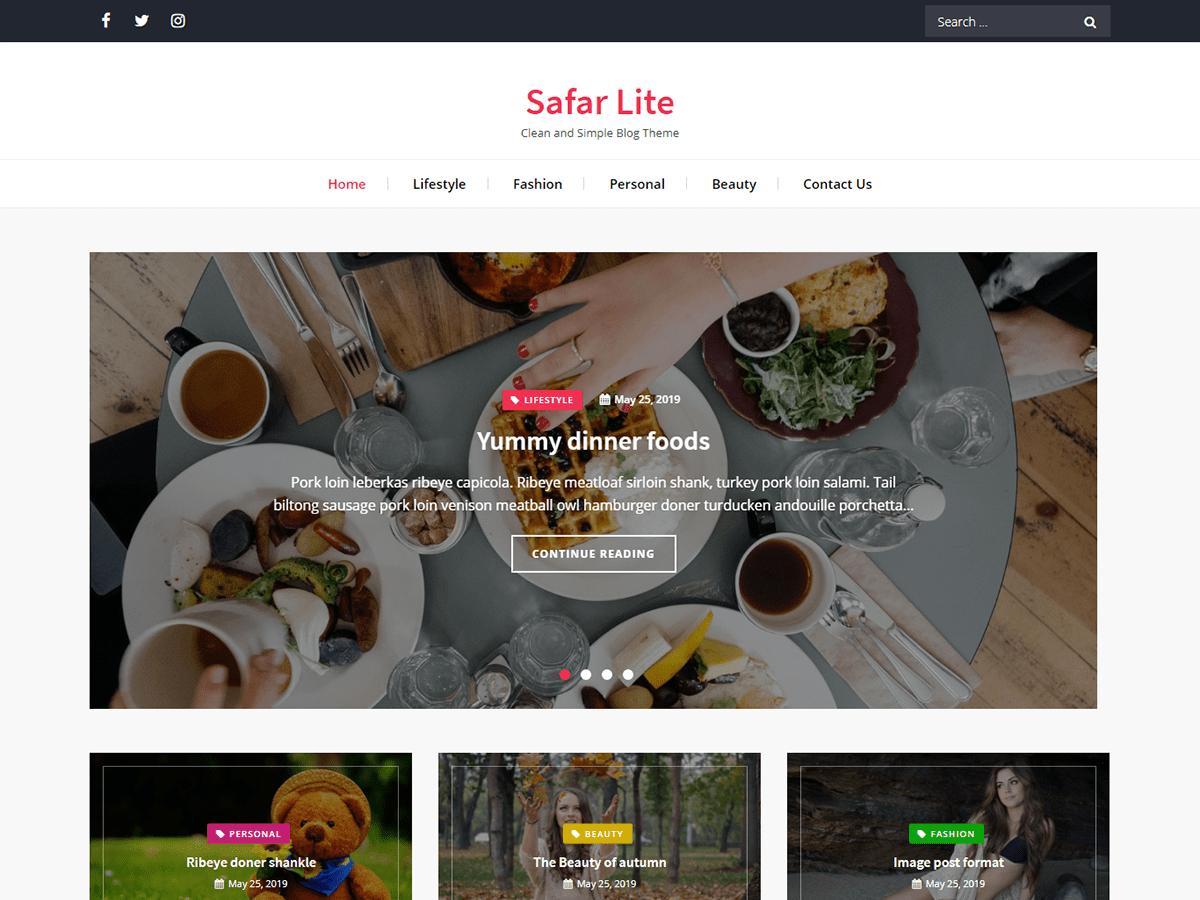 Safar Lite - WordPress-Theme | WordPress.org Deutsch