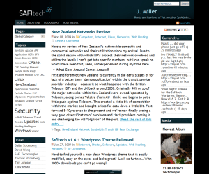 SafiTech free wordpress theme