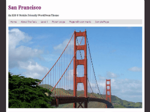 San Francisco free wordpress theme