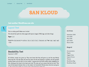 San Kloud free wordpress theme