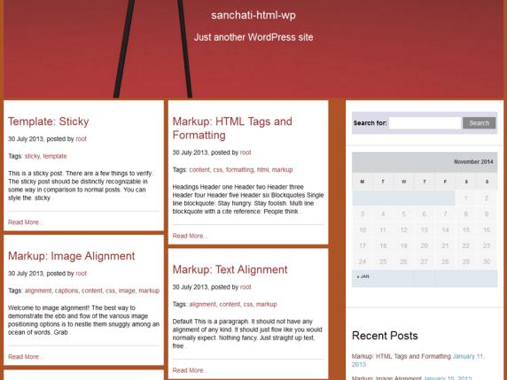 SANCHARI wordpress theme