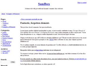 Sandbox free wordpress theme