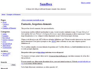 Sandbox wordpress theme